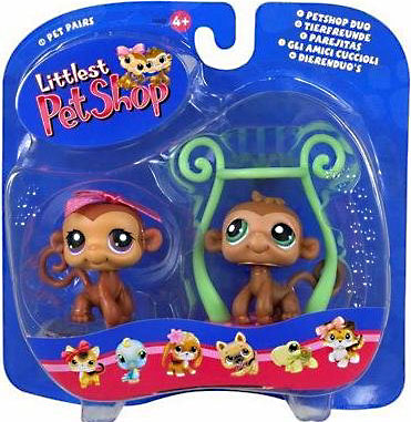 Littlest Pet Shop Pet Pairs Monkey Figure 2-Pack [Boy & Girl Twins]