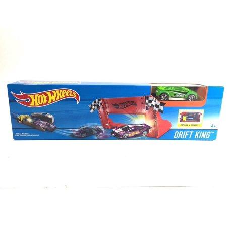 (Hot Wheels Stunt Set with Vehicle, Drift King)