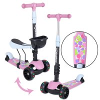 WonkaWoo 2-in-1 Kick Scooter with Removable Seat for Kids & Toddlers