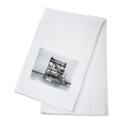 Swimmers in the Potomac River Photograph (100% Cotton Kitchen - Swimmers Towel
