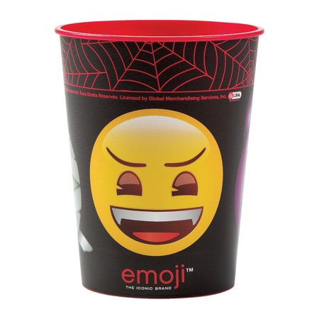 Emoji Halloween Plastic Tumbler (16 Oz) for Halloween - Party Supplies - Licensed Tableware - Licensed Cups - Halloween - 1 Piece - Cute Halloween Gif Tumblr