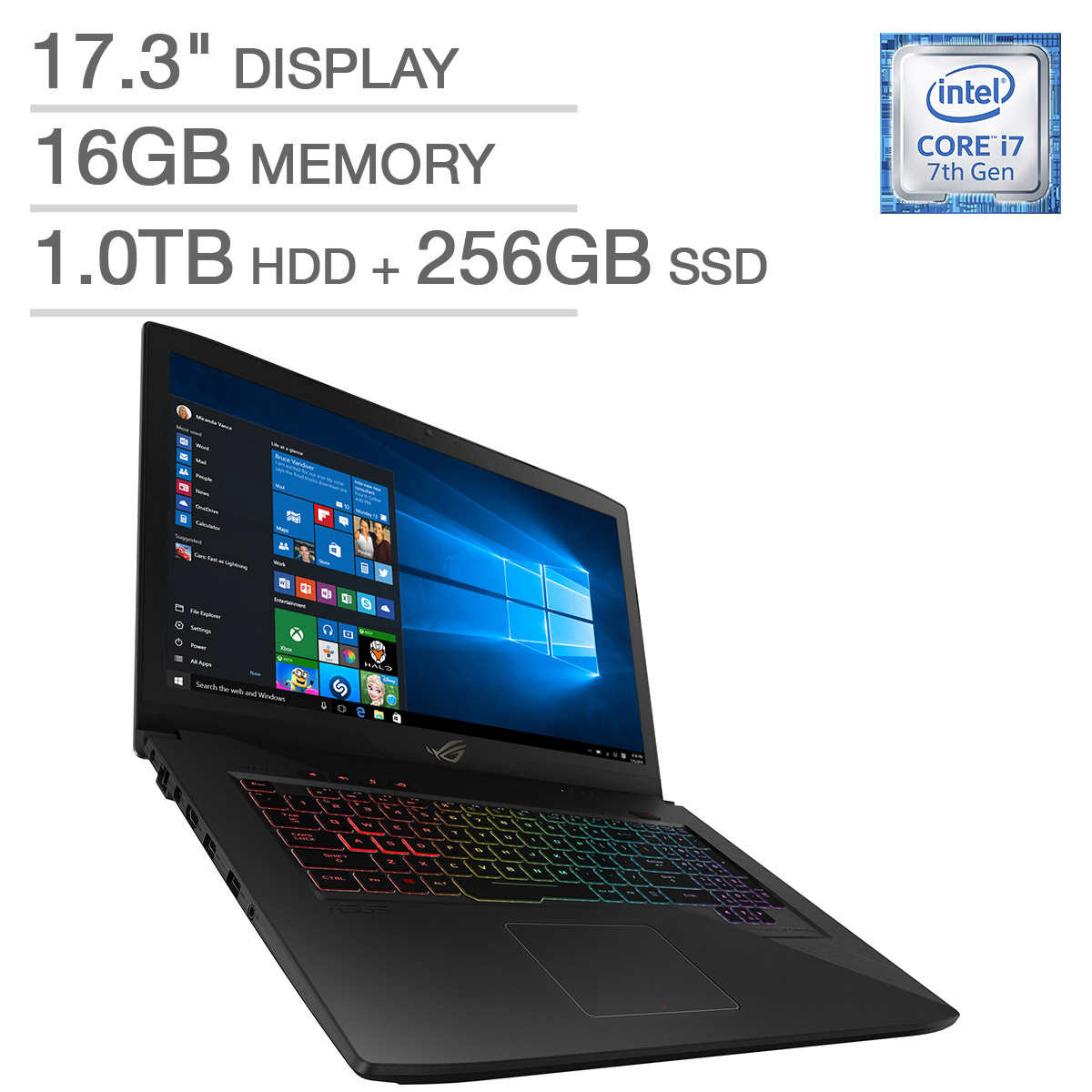 ASUS ROG GL703VM Gaming Laptop Intel Core i7 1080p 6GB NVIDIA Graphics by ASUS