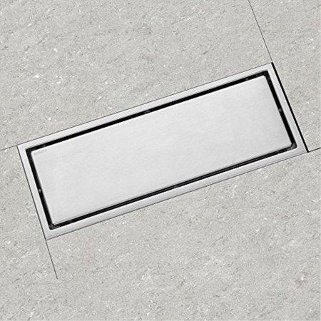 Luckin Tile Insert Linear Shower Drain 12 Inch Bathroom Tile Floor