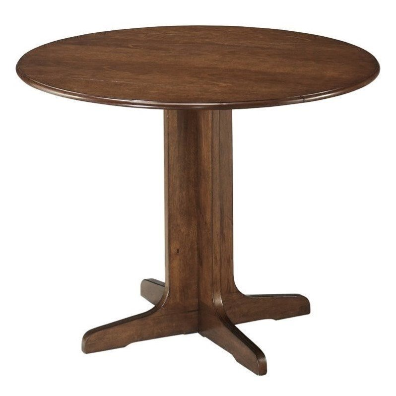 Ashley Stuman Round Wood Dining Table in Brown - image 3 of 4