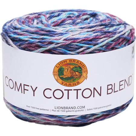 Cotton Wool Blend Yarn (Lion Brand Comfy Cotton Blend Cloud Nine Yarn, 392 Yd.)