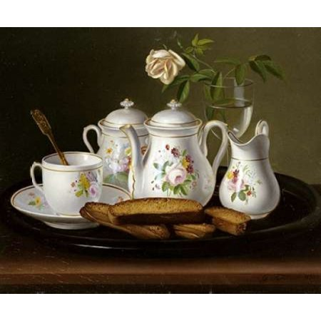 Still Life of Porcelain and Biscuits Poster Print by George Forster (20 x 24)