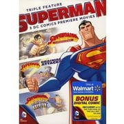DC Comics: Superman Triple Feature (DVD + Digital Comic) (Walmart Exclusive) (Full Frame) by