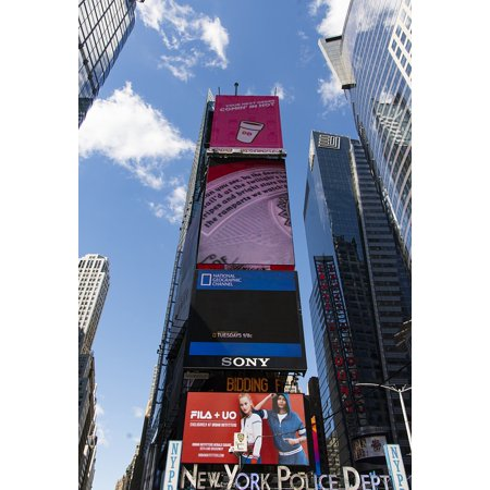 Canvas Print NYC Urban Times Square Street New York Advertising Stretched Canvas 10 x 14](Halloween New York Times Square)