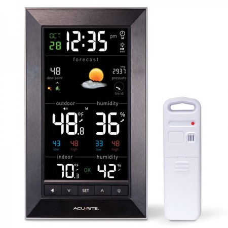 AcuRite 01121M Vertical Wireless Color Weather Station with Temperature (Metal Weather Station)