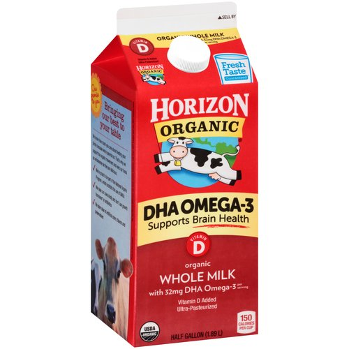 Horizon Organic Whole Milk, 0.5 gal