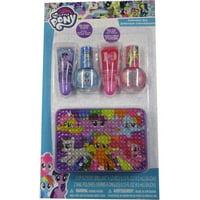 Hasbro Girls Multi Color My Little Pony Nail Polish Lip Gloss Tin Container Set