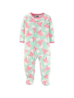 Baby Toddler Girl Fleece Sleeper