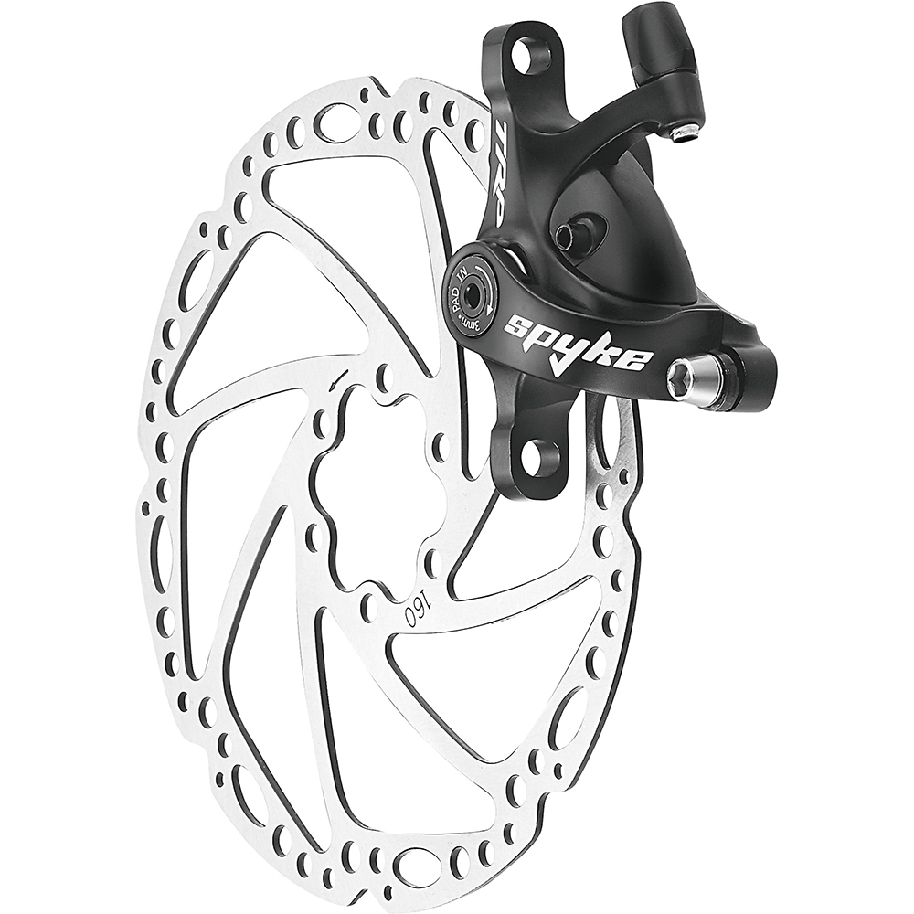 without rotor Bla TRP Spyke Mechanical Post-Mount Caliper for long-pull levers