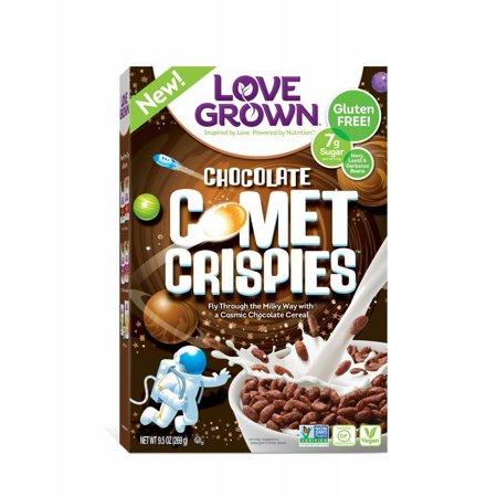 Love Grown Comet Crispies Breakfast Cereal, Chocolate, Bean-Based, 9.5 (Best Plant Based Cereal)