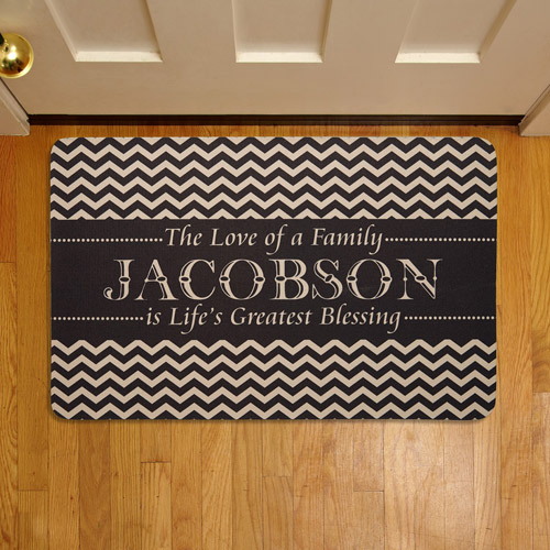 "Personalized Life's Greatest Blessing 17"" x 27"" Doormat"