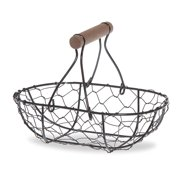 Stella Oblong Wire Mesh Fixed Handle Basket Small 6in