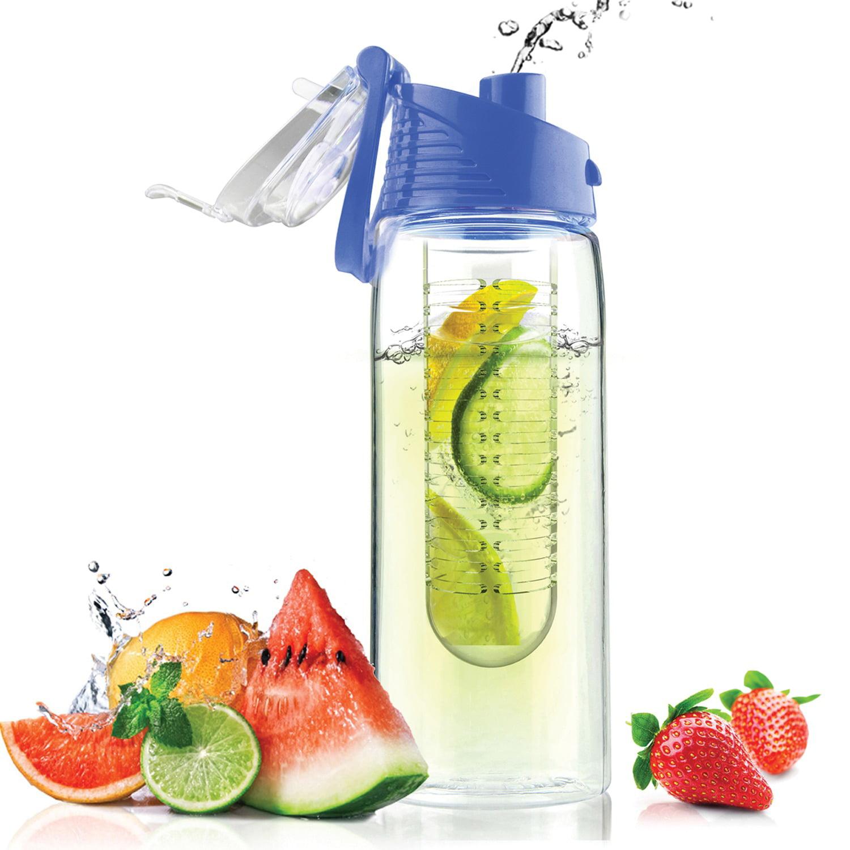 Asobu BTA711SB 20-ounce Pure Flavor 2 Go Water Bottle (blue)