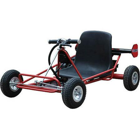 Mototec Solar Electric 24V Go Kart  Red