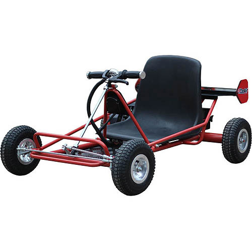 MotoTec Solar Electric 24V Go Kart, Red
