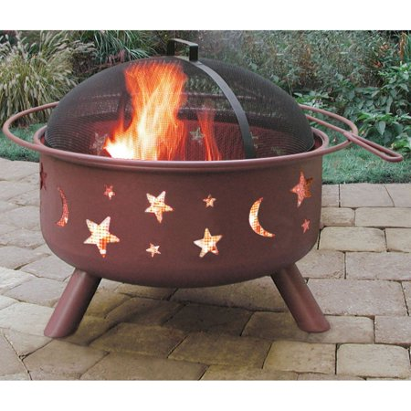 Landmann Fire Pits (Landmann 28335 Big Sky Stars & Moons Fire Pit, Georgia Clay)