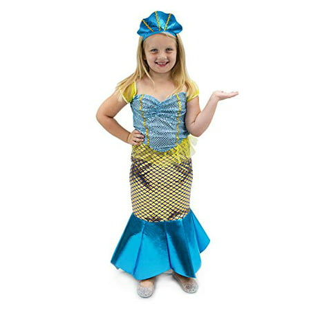 Boo! Inc. Magnificent Mermaid Children's Halloween Dress Up Roleplay - Mermaid Dress Halloween