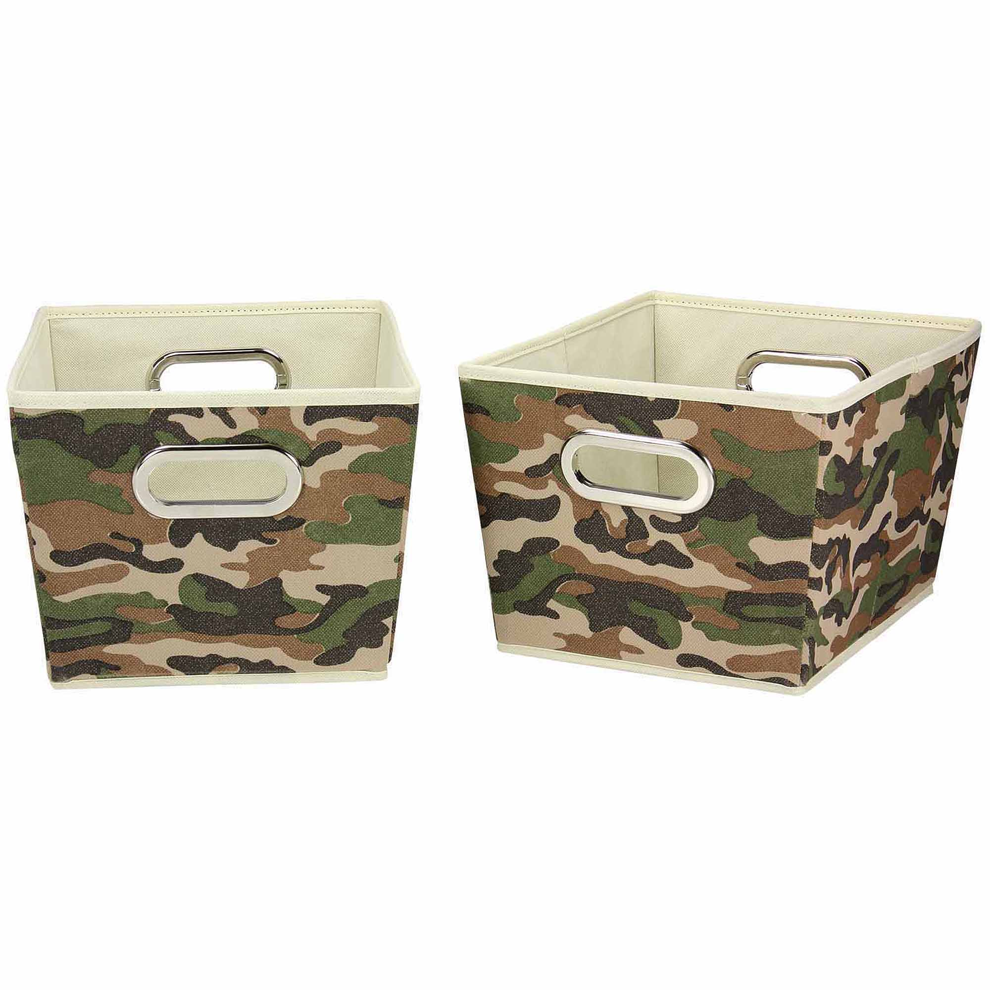 Household Essentials Decorative Storage Bins, 2pk, Small, Camo Design
