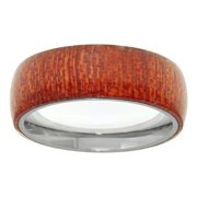 Metro Jewelry Stainless Steel Ring Wood