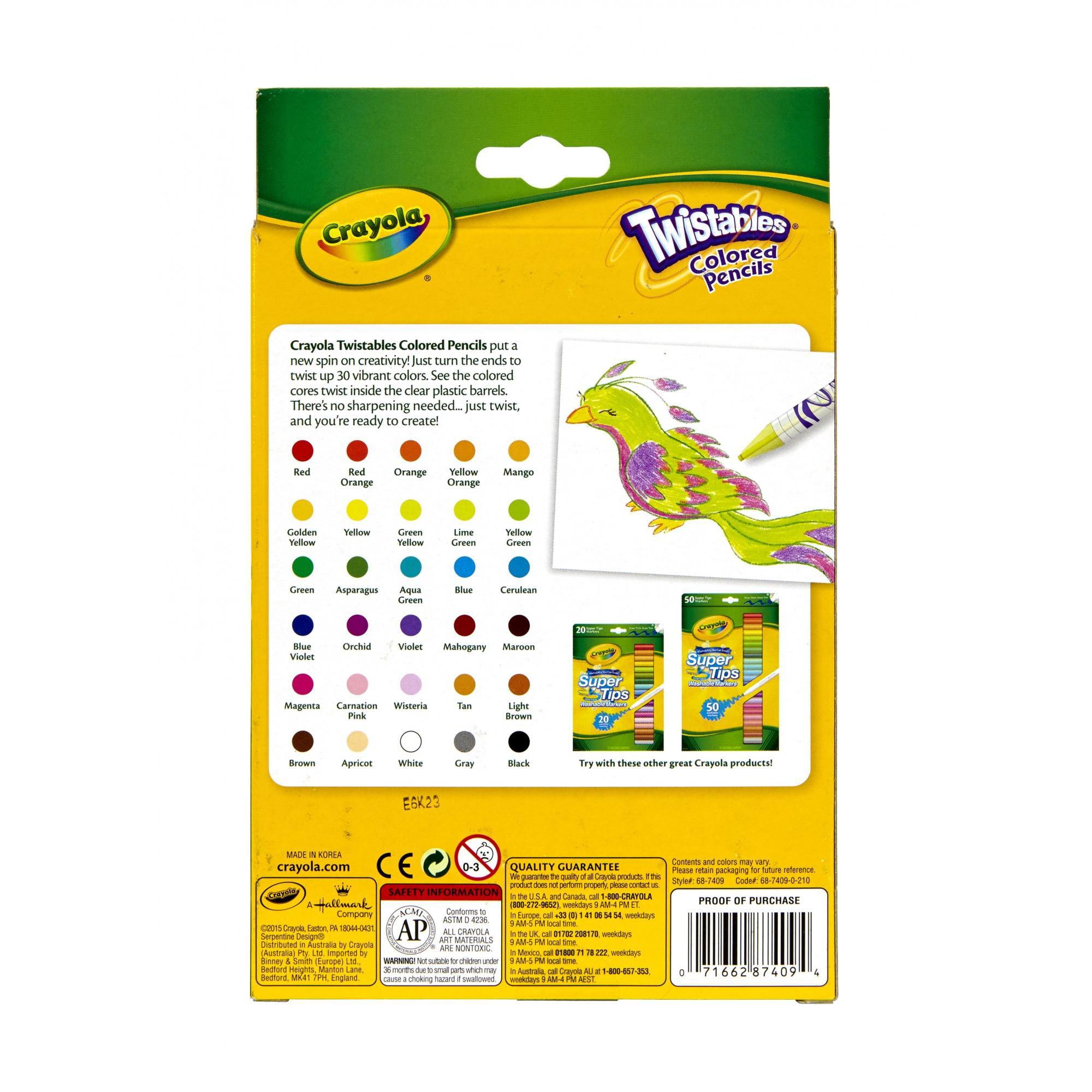 crayola 30 count twistable colored pencils walmartcom - Crayola Colored Pencils Twistables