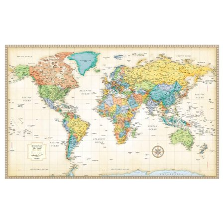 Rand Mcnally Classic World Map Giant Poster   50X32