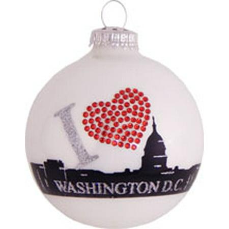 "Christmas by Krebs ""I Love Washington D.C."" Glass Christmas Ornament 3.25"" - Walmart.com"