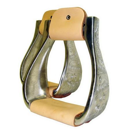 Roping Stirrup - Intrepid International Aluminum Engraved Roping Stirrups