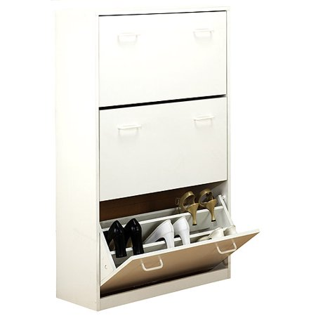 - Shoe Cabinet, Triple, White