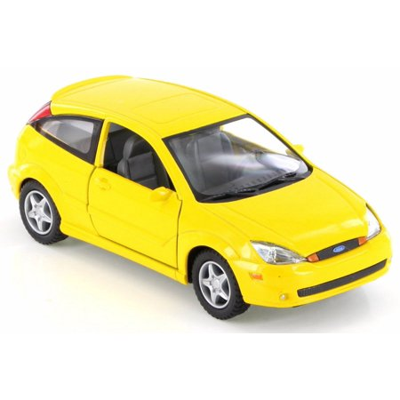 - 2002 Ford SVT Focus, Yellow - Kinsmart KT5082D - 1/34 Scale Diecast Model Toy Car (Brand New but NO BOX)
