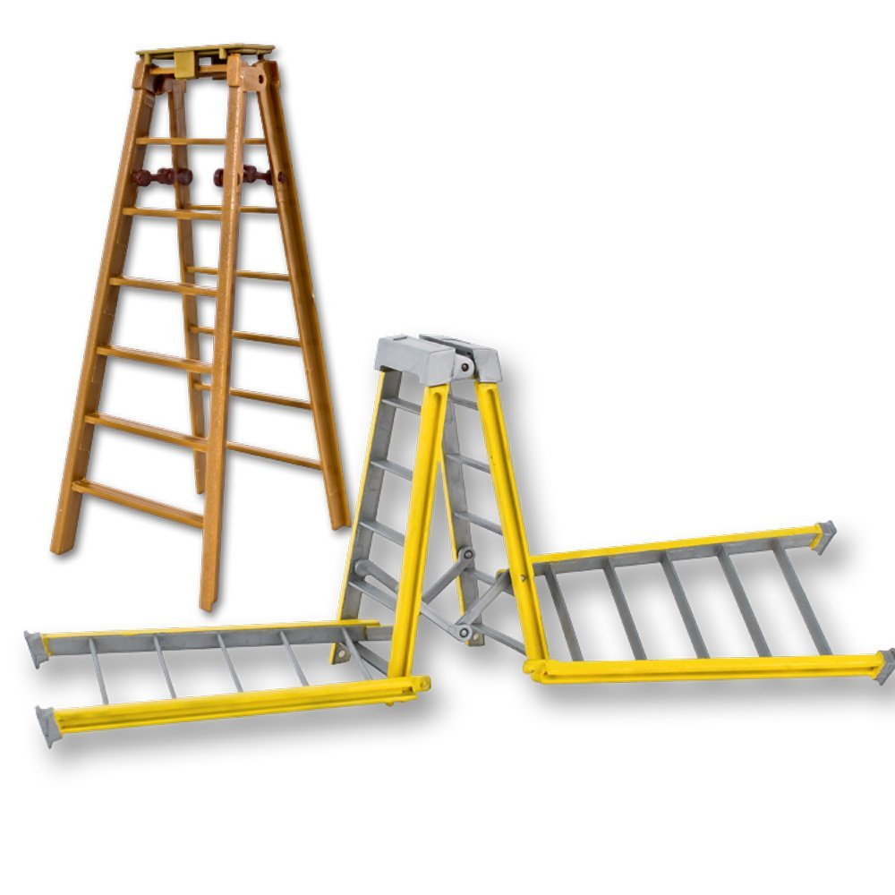 Special Deal: One 10 Inch Yellow Breakable & One 7 Inch Regular Brown Ladder for WWE Wrestling Action Figures