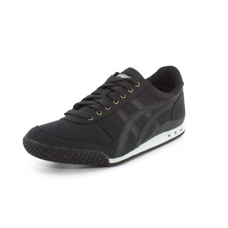 factory authentic f732f 1126f Asics D6E5N-9090: Ultimate 81 Mens Black Leather and Fabric Sneaker