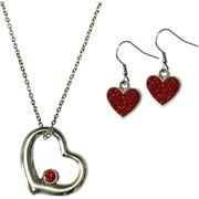 Gloria Duchin Open Heart Necklace and Earrings Jewelry Set