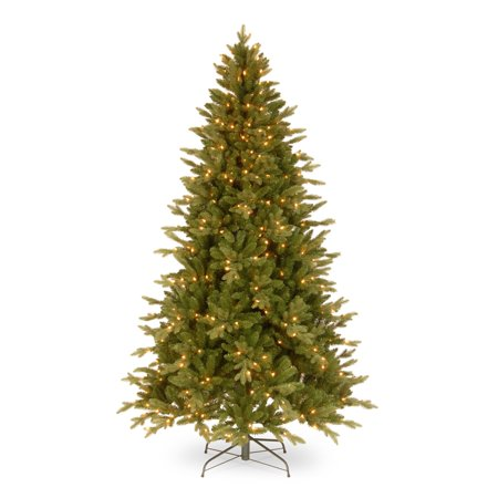 National Tree Pre-Lit 6-1/2' Feel-Real Avalon Spruce Medium Hinged Artificial Christmas Tree with 400 Clear Lights