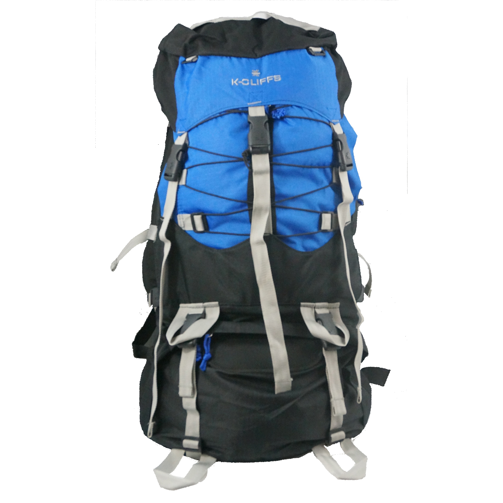 K-Cliffs Hiking Backpack Large Scout Camping Backpack Outdoor Travel Bag w Rain Cover Royal Blue by K-Cliffs