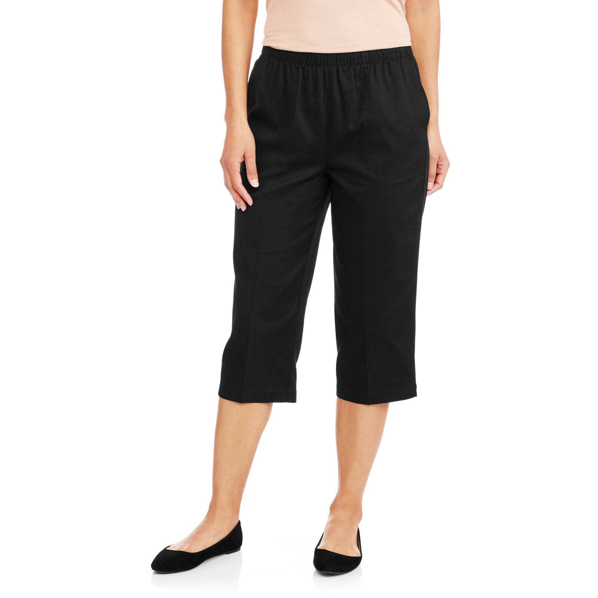 White Stag Women's Essential Pull-on Capri - Walmart.com