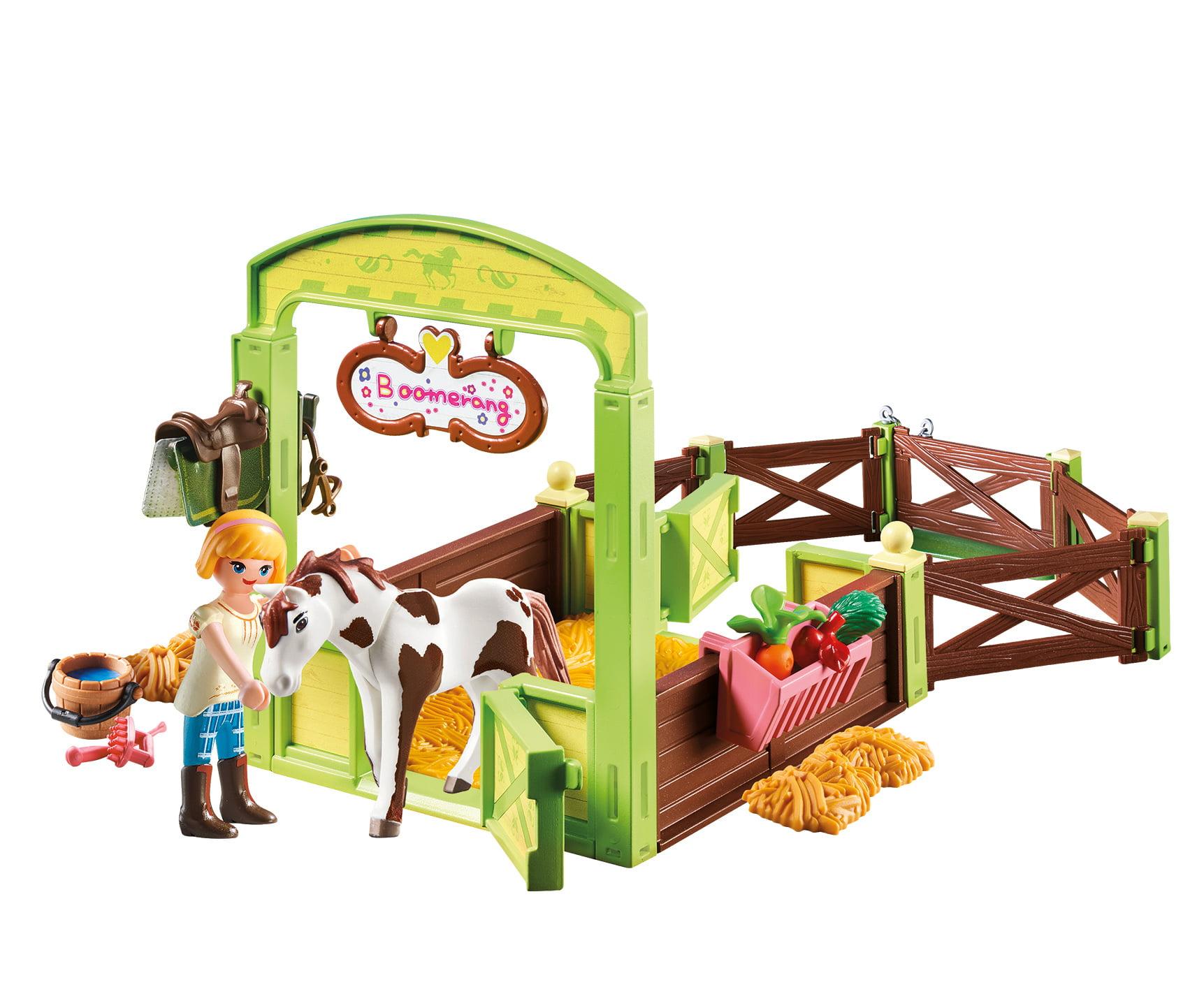 Playmobil M DreamWorks Spirit 9480 Dream Works Horse Box Abigail and Boomerang