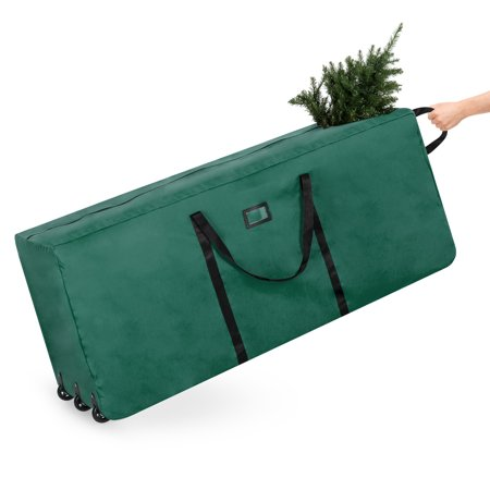Best Choice Products 600D Polyester Rolling Duffel Storage Bag for Up To 9ft Christmas Tree with Handle,
