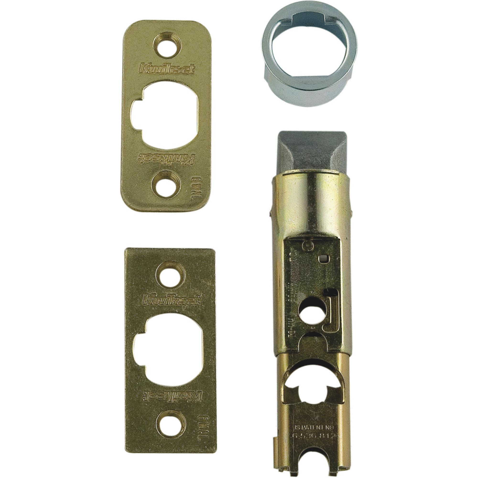 Kwikset 81825-001 Polished Brass Adjustable Entry Door Latch