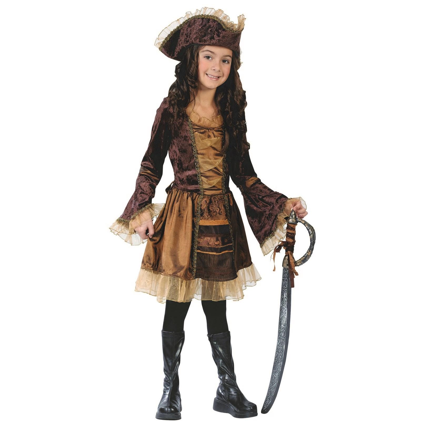 Girls Sassy Victorian Pirate Halloween Costume