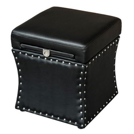 HomCom Storage Ottoman with Pull Out Table Drawer
