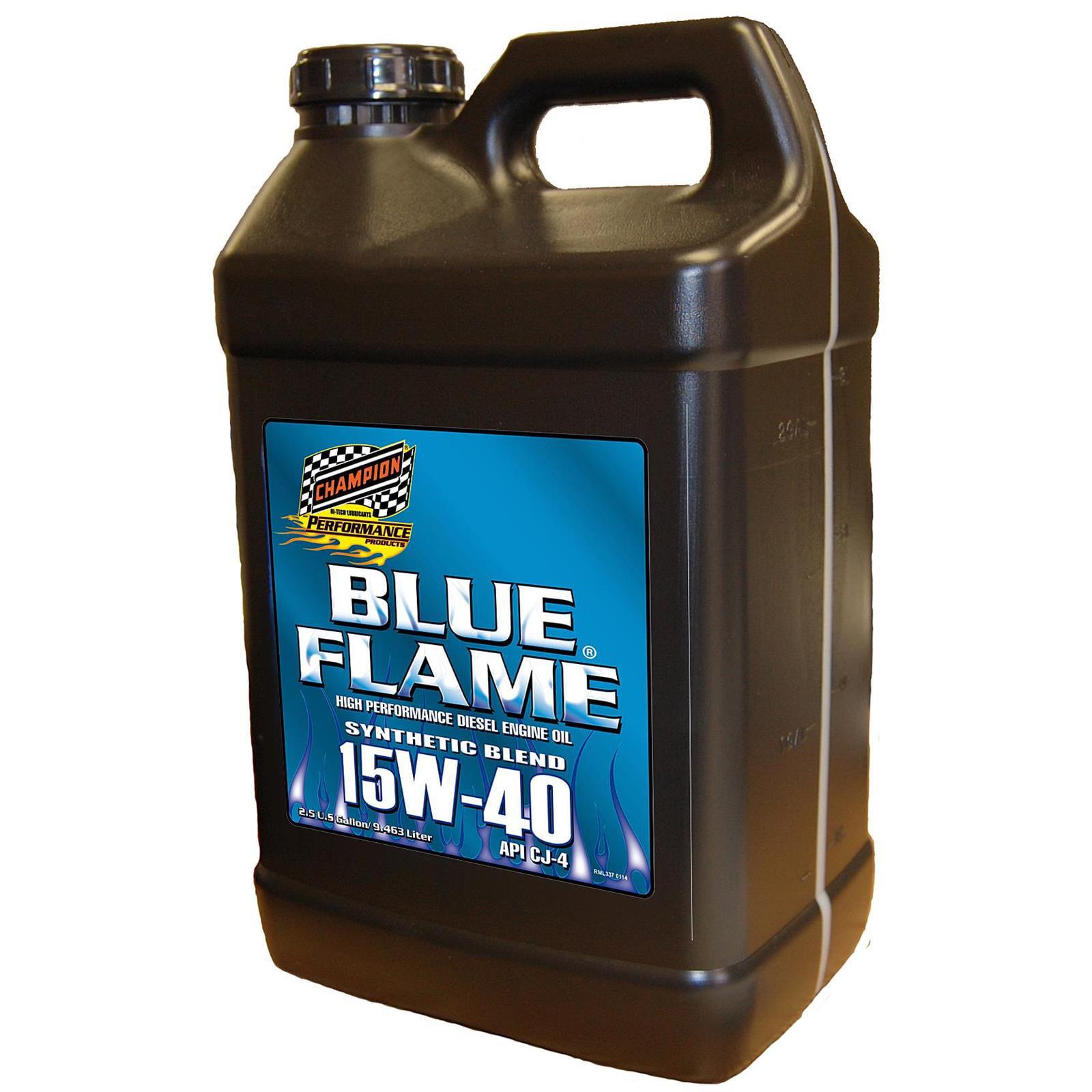 Champion Racing 4358U Blue Flame Diesel Engine Oil,15W40, 2.5 Gal