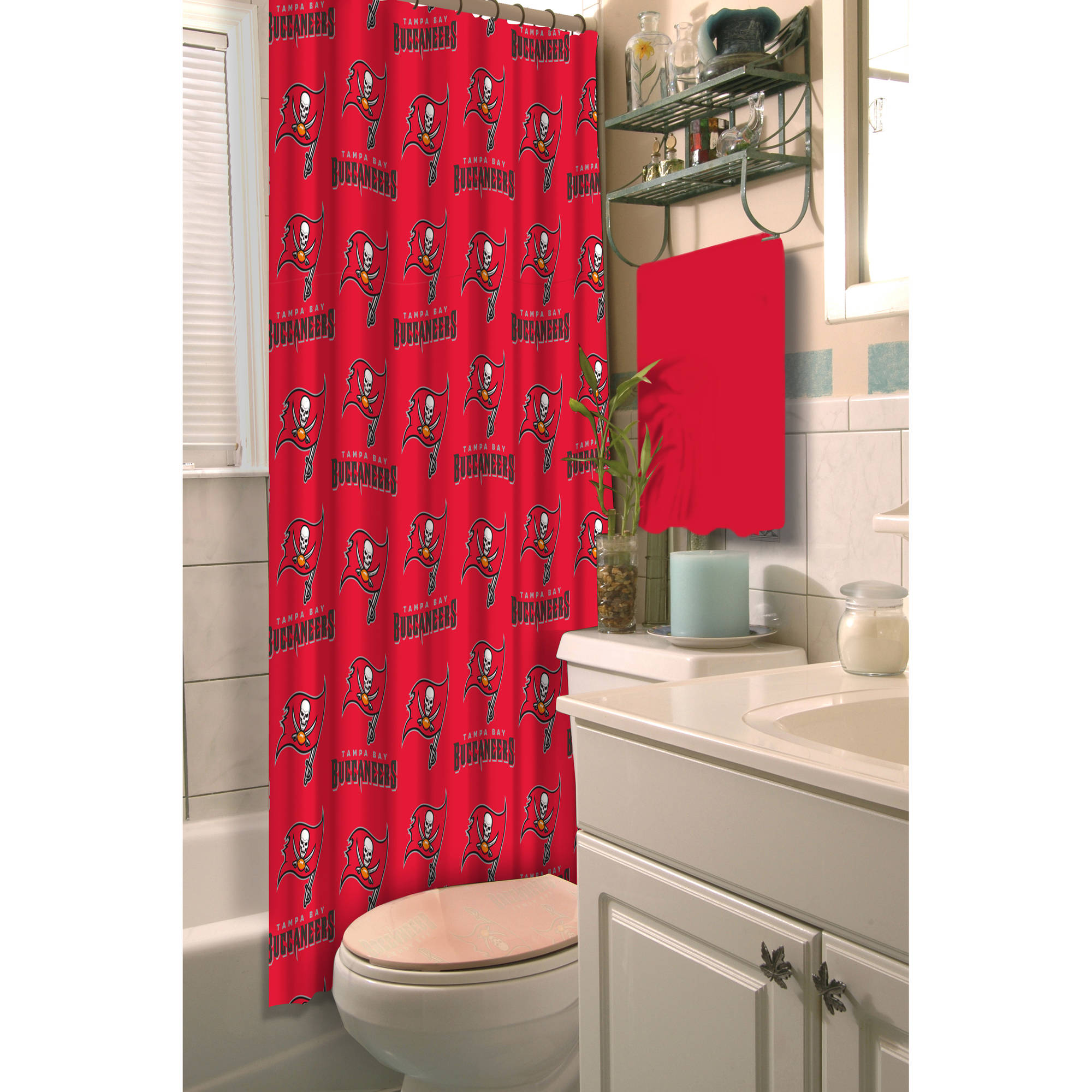 Superior NFL Tampa Bay Buccaneers Decorative Bath Collection   Shower Curtain