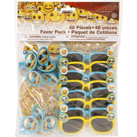 Emoji Party Favor Kit for 8 (Unique Industries Party Supplies)