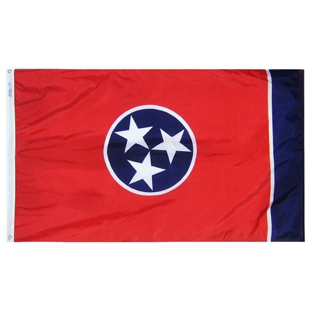 Tennessee State Flag 3x5 ft. Nylon Official State Design Specifications. (Tennessee State Flag History)