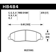 Hawk 05-10 Ford Mustang GT & V6 / 07-08 Shelby GT Performance Ceramic Street Front Brake Pads