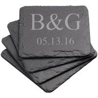 Personalized Square Slate Coasters